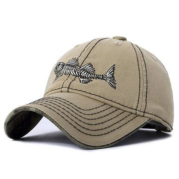 9169cbd08141d5 High-quality Mens Unisex Cotton Fish Spur Baseball Hat Outdoor Sports  Travel Sunshade Snapback Hat - NewChic Mobile