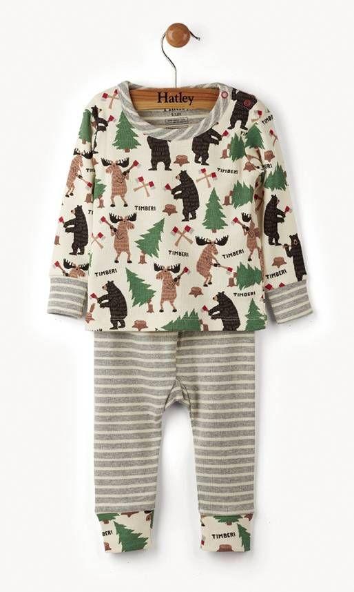 Hatley 2-delige jongens pyjama Unusual loggers Hatley