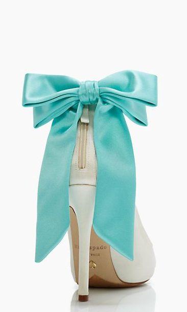 tiffany blue bow heels #katespade
