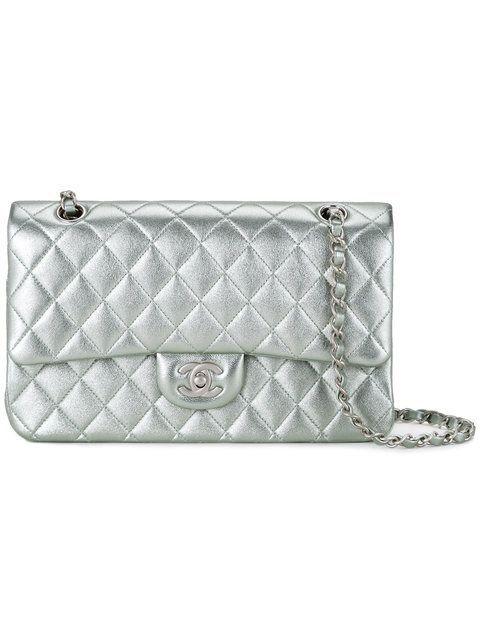 5d389c45cf70 Chanel Vintage Quilted CC Double Metallic Shoulder Bag  5