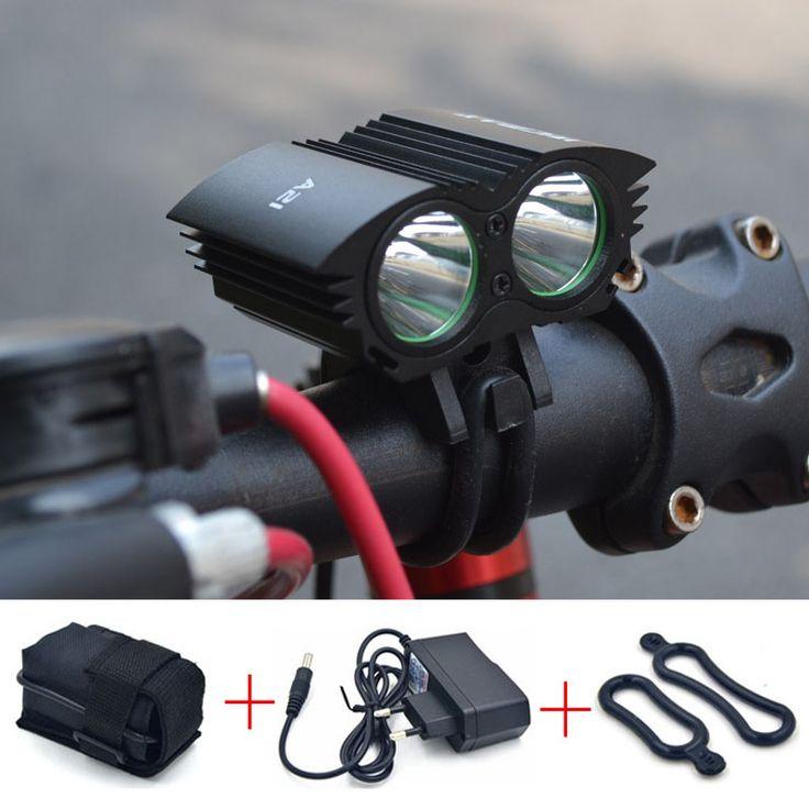 แสงไฟจักรยานจักรยาน5000 Lumen XML U2 LEDไฟจักรยานโคมไฟแสงจักรยาน+ 6400มิลลิแอมป์ชั่วโมงแบตเตอรี่+ชาร์จ