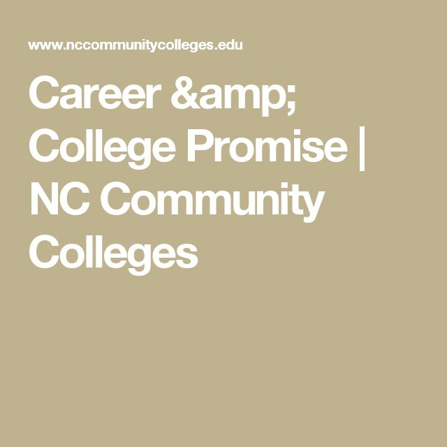 Career & College Promise   NC Community Colleges