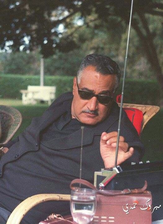 The late president Gamal Abdel Nasser listening to the radio. To watch an English documentary on Abdel Nasser's life : http://www.youtube.com/watch?v=R_fZG6_SDus