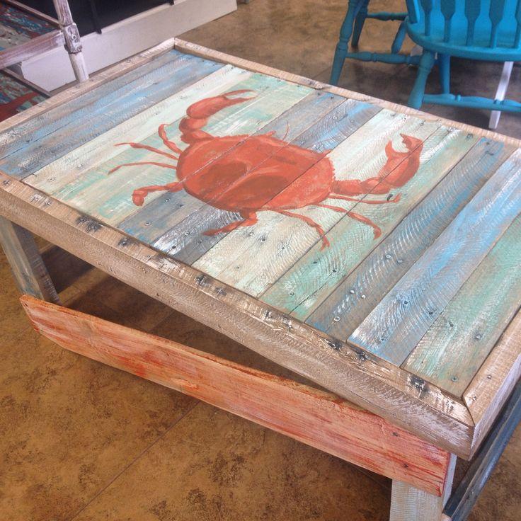 Beachy pallet crab table