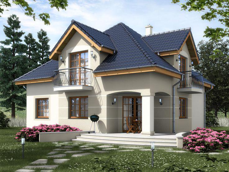 DOM.PL™ - Projekt domu ARD Kasztan 2 paliwo stałe CE - DOM RD1-60 - gotowy projekt domu