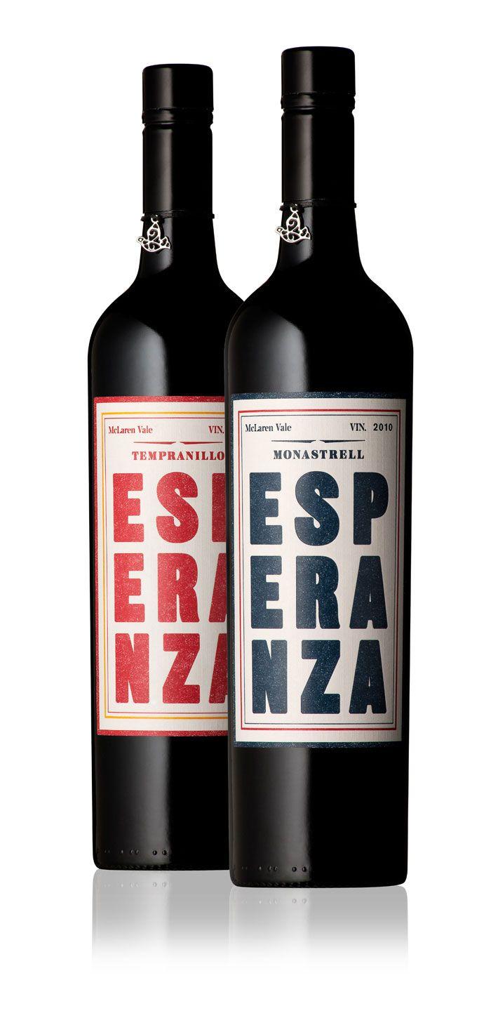 Esperanza packaging design. A new wine brand from Wirra Wirra, exploring Spanish grape varieties