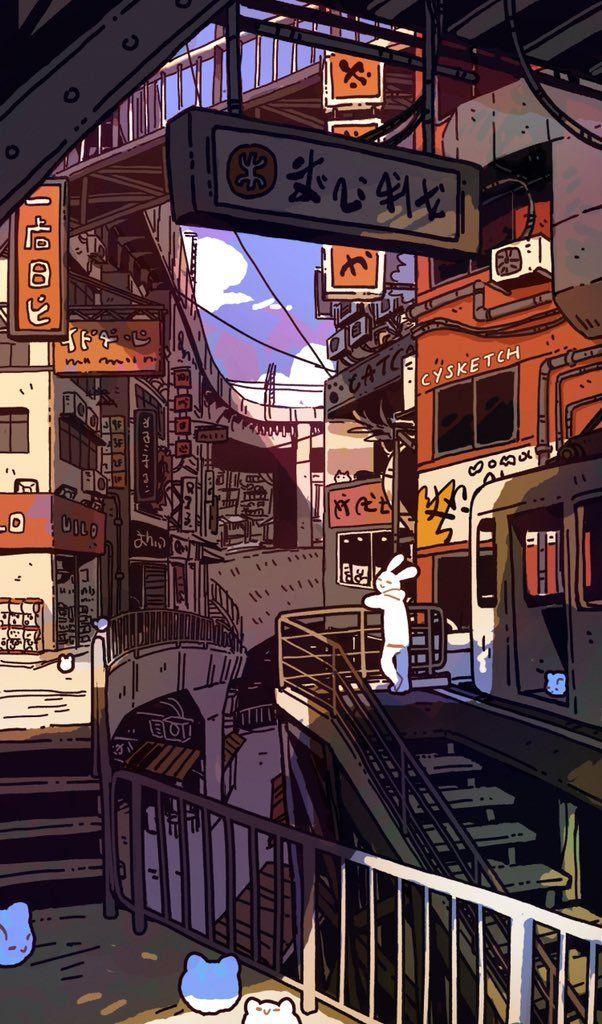 10 Weird Architecture Sights In Tokyo Japan Part 2 Dewildesalhab武士 In 2020 Anime Scenery Wallpaper Scenery Wallpaper Anime Scenery