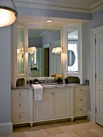 Pic On Angled mirrors cabinets for the bathroom Way