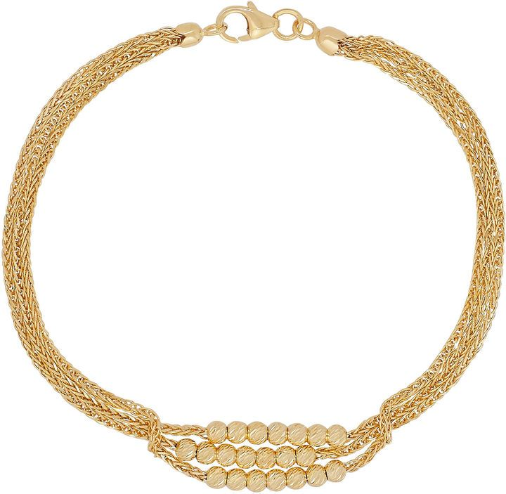 Made In Italy Womens 7 1 2 Inch 14k Gold Link Bracelet Gold Link