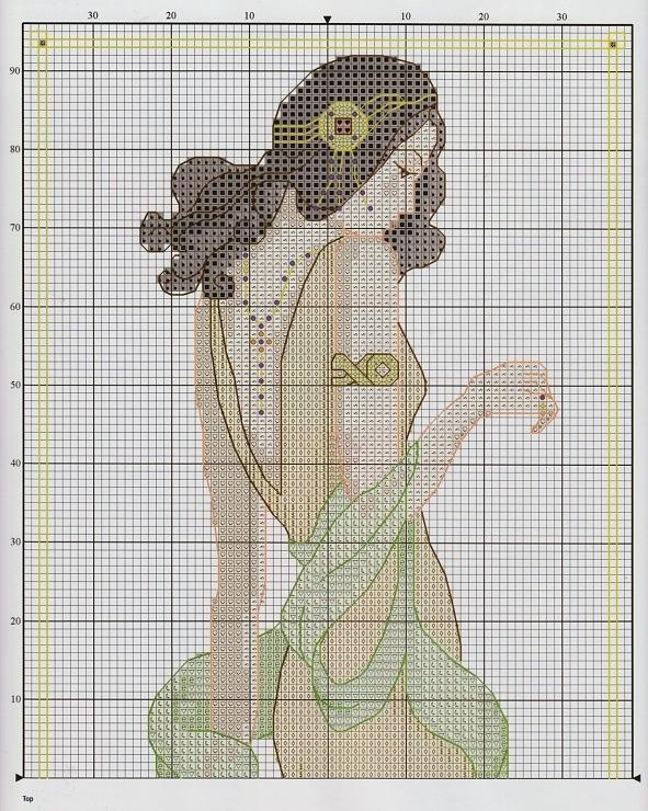 cross stitch pattern - elegant lady