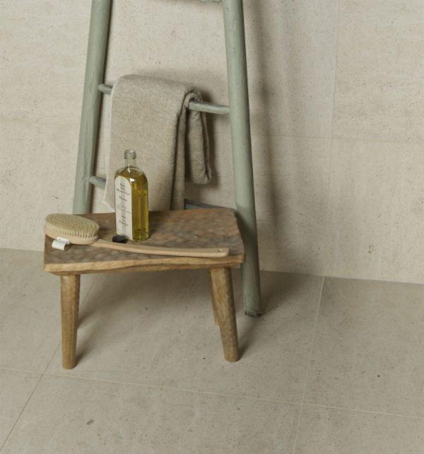 Classic limestone tiles for the bathroom from Artisans of Devizes.