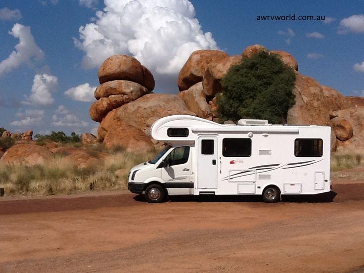 Albury Wodonga RV World visiting Devils Marbles NT - Talvor Motorhome