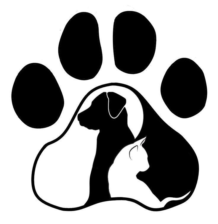 Hund Katze Silhouette Pfote Svg Amp Hund Katze Pfote Silhouette Svg Dog Tattoos Dog Silhouette Cat Silhouette