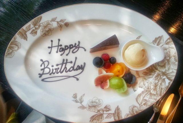 バースデープレート バースデープレート 皿盛りデザート 誕生日プレート