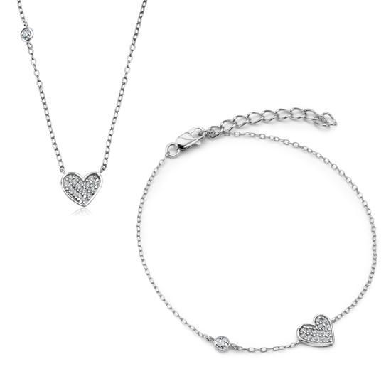 Komplet Walentynkowy Unique, 119 PLN.  www.YES.pl/55498-komplet-walentynkowy-unique-AB-S-000-CYR-ABCL2699 #jewellery #buyonline #heart #love #YESforRomance #perfect #shop #freedelivery #Poland #BizuteriaYES