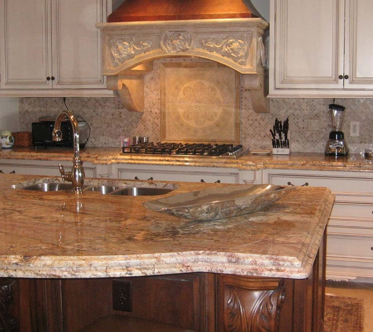 Kitchen Backsplash Granite: Typhoon Bordeaux Kitchen