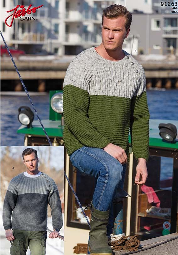 Wonderful two-colored sweater.
