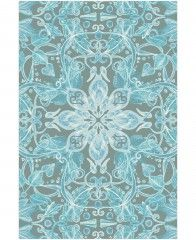 Soft Blue & Grey Floral Pattern-Tapete