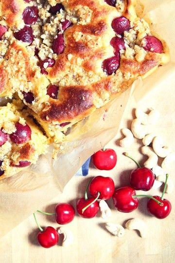 #ciasto #drozdzowe z czereśniami. #cherries #pie #delektujemy