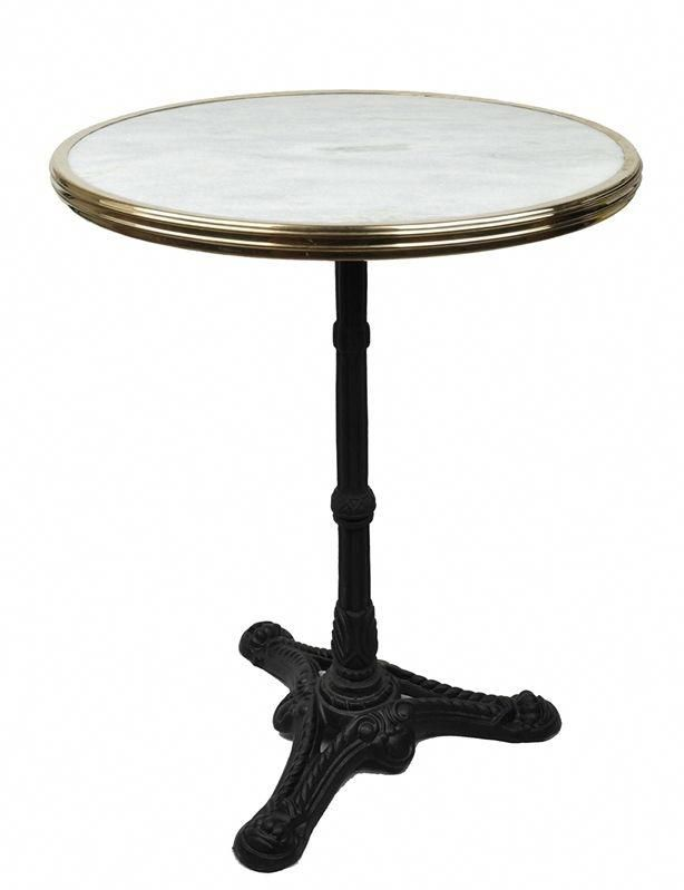 Marble Bistro Table White Bistrofurniturefrench Bistro Patio