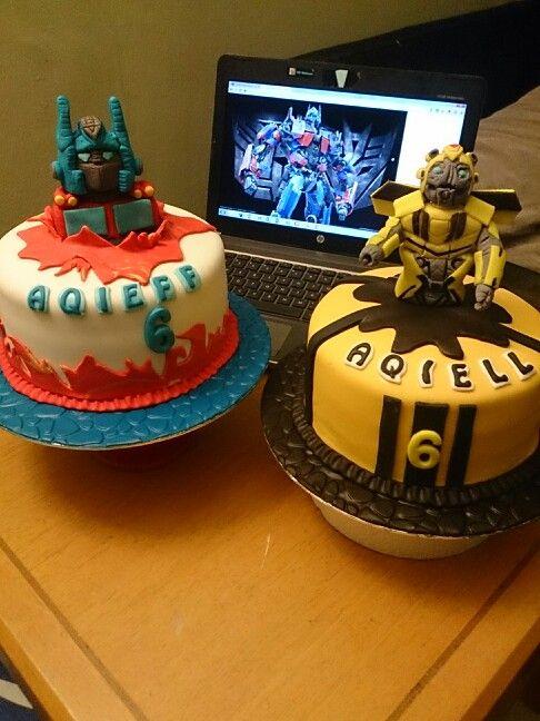 Transformers Optimus Prime Amp Bumblebee Birthday Cake My