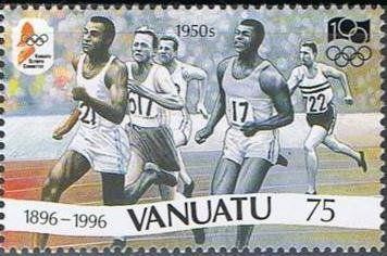 Stamp: Running Race (about 1950) (Vanuatu) (Olympic Games) Mi:VU 1018