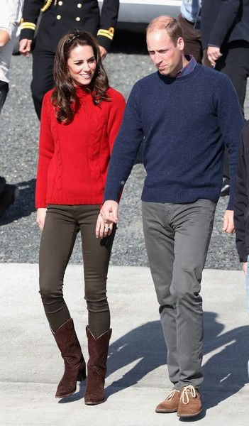 Catherine, Duchess of Cambridge and Prince William, Duke of Cambridge head out on a fishing trip with Skidegate youth centre children during the Royal Tour of Canada on September 30, 2016 in Carcross, Canada. Prince William, Duke of Cambridge, Catherine, Duchess of Cambridge, Prince George and Princess Charlotte are visiting Canada as part of an eight day visit to the country taking in areas such as Bella Bella, Whitehorse and Kelowna