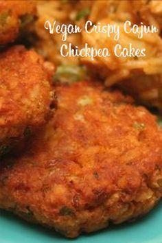 Vegan Crispy Cajun Chickpea Cakes