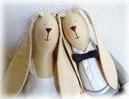 Wedding bunny handmade by Ternova Nata