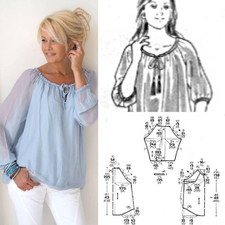 как сшить свободную блузку пошагово с фото эскизы