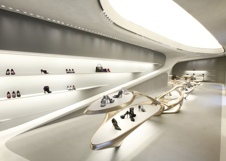 Retail Design   Store Interior   Shop Design   Store Design   Zaha Hadid designs boutiques for Stuart Weitzman