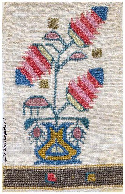 Antique Persian Embroidery | pricklypins.blogspot.com