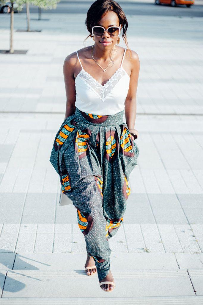 Rahyma Sleek African print harem pants. ~ African fashion, Ankara, kitenge, Kente, African prints, Braids, Asoebi, Gele, Nigerian wedding, Ghanaian fashion, African wedding ~DKK