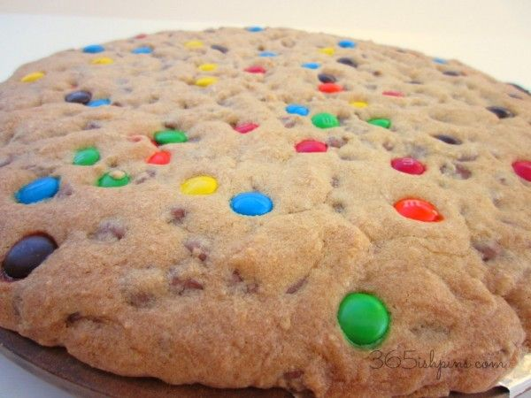 Day 300: Perfect Giant Cookie Cake » 365ish Days of Pinterest
