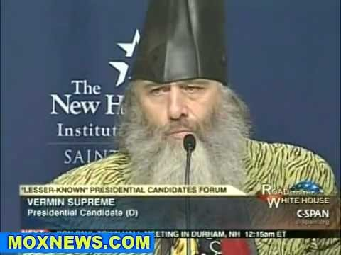 WHAT UP WHAT UP. Vermin Supreme, presidential candidate.