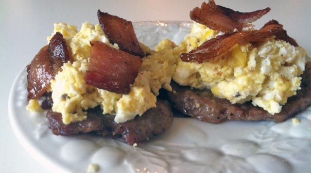 Bacon and Sausage Breakfast Pizza Recipe