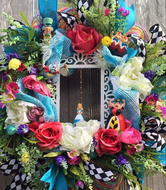 Everyday Wreath Alice in Wonderland Party Decor by BaBamWreaths
