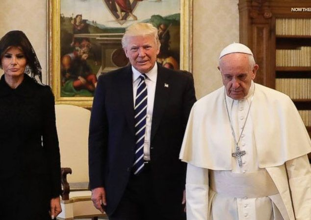 At The Vatican Today Pope Francis Gave President Trump The Gospel…Of Climate Change