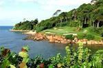 Signature hole at Ria Bintan Golf course in Bintan. One of the best in Asia.