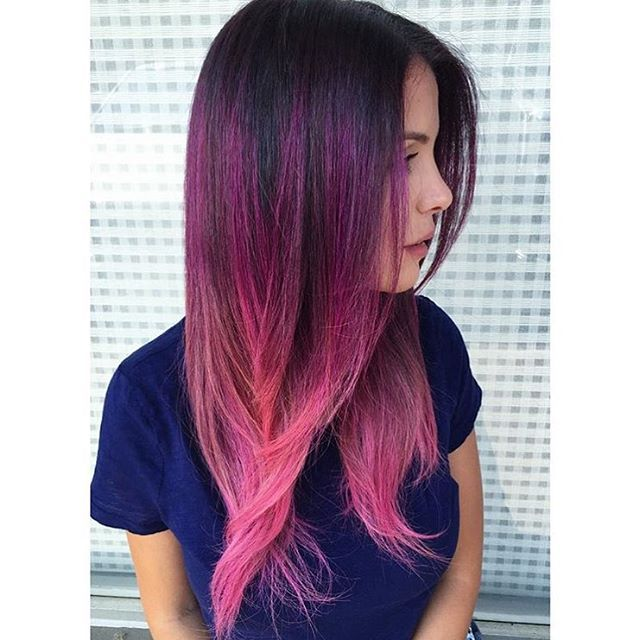 OMG @ranias_hair_salon created this beautiful Ombré using Joico Color Intensity…