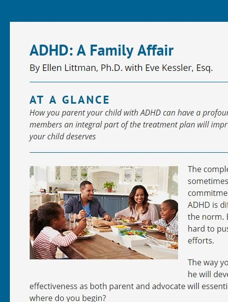 ADHD affects the whole family! Smart Kids