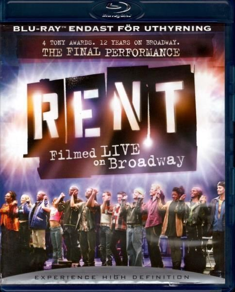 Rent - Filmed Live On Broadway (Blu-ray / The Final Performance / 2009)