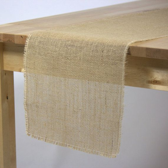 BURLAP TABLE RUNNER, only $3.95 each. Elegantly simple and crafted with unmatched meticulous detail and care, our 12.5 x 120 in. Jute Burlap