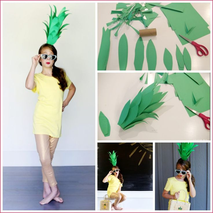 Super Easy DIY Pineapple Costume - Sugar Bee Crafts