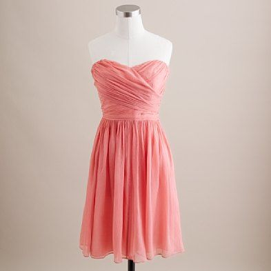 Jcrew Bridesmaid dress in bright coral