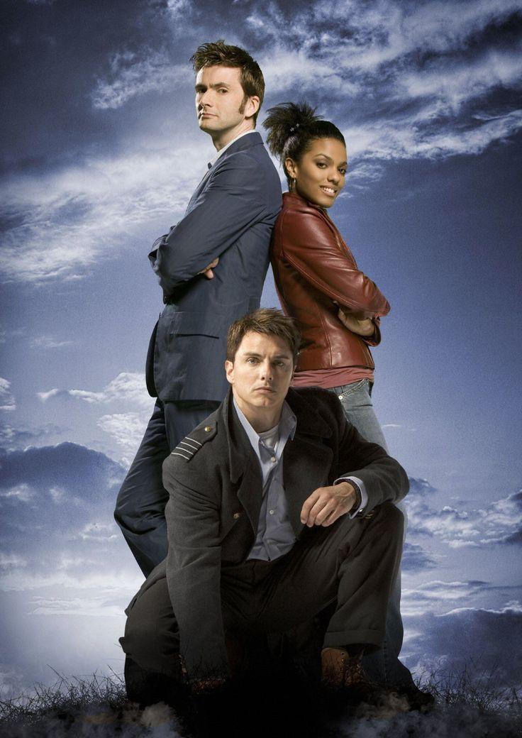 The 10th Doctor, Martha Jones & Captain Jack Harkness in