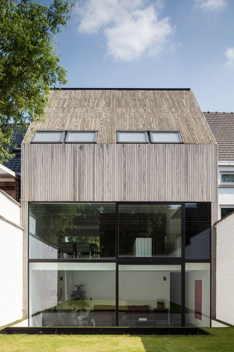 Contemporary terraced house designed to stand out from its post-war neighbours.