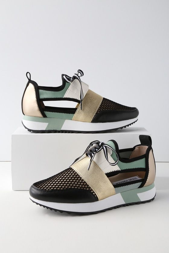 67e525e6eb1 Steve Madden Arctic - Mint Green Sneakers - Cutout Sneakers