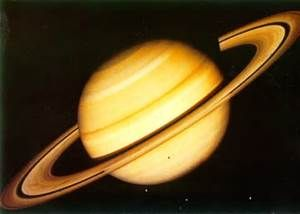 Saturn is the sixth planet from the Sun and the second largest. Saturn is the only planet in our solar system that is less dense that water. A year on Saturn is equal to 29.5 Earth Years. A day on Saturn is equal to 10 hours and 14 minutes in Earth days. The diameter of Saturn is 119,871 km. Saturn's maximum distance from the Sun is 1.5 billion km. Saturn's minimum distance from Earth is 1.2 billion km. Saturn has fourteen subdivisions of its rings, the widest is at 25,500 km, the B ring.