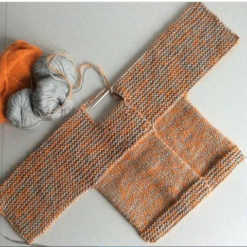 Tek Parça Örülen Bebek Hırkası Yapılışı - Resimli Anlatımlı
